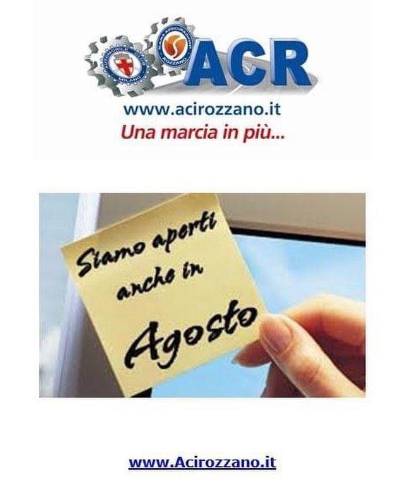 Aperti ad Agosto www.acirozzano.it telefono 028256987